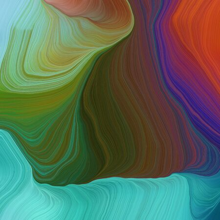 quadratic graphic illustration with old mauve, medium turquoise and dark sea green colors. abstract colorful swirl motion. can be used as wallpaper, background graphic or texture.