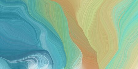curved lines background or backdrop with tan, dark khaki and blue chill colors. good as graphic element. 版權商用圖片