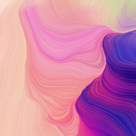 quadratic graphic illustration with pastel magenta, dark slate blue and dark magenta colors. abstract design swirl waves. can be used as wallpaper, background graphic or texture. 写真素材