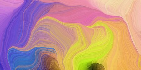 abstract design swirl waves. can be used as wallpaper, background graphic or texture. graphic illustration with rosy brown, dark salmon and golden rod colors. Zdjęcie Seryjne - 133418316
