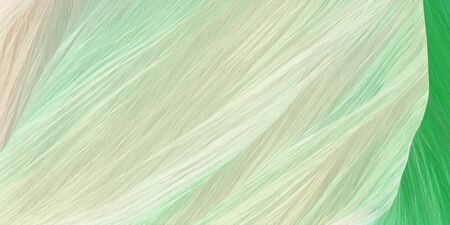 curved motion speed lines background or backdrop with pastel gray, medium sea green and beige colors. good for design texture.