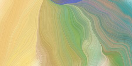 curved motion speed lines background or backdrop with tan, gray gray and blue chill colors. dreamy digital abstract art.