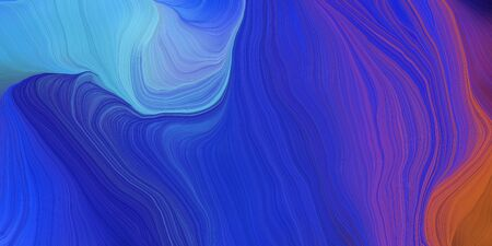 abstract fractal swirl motion waves. can be used as wallpaper, background graphic or texture. graphic illustration with dark slate blue, strong blue and corn flower blue colors.