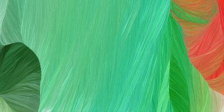 curved motion speed lines background or backdrop with medium sea green, indian red and forest green colors. good for design texture.