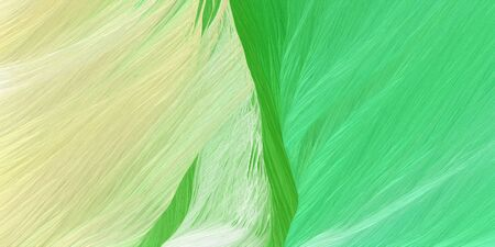 curved lines background or backdrop with pale golden rod, pastel green and lime green colors. dreamy digital abstract art.