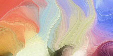 abstract fractal swirl waves. can be used as wallpaper, background graphic or texture. graphic illustration with silver, pastel gray and sienna colors. Zdjęcie Seryjne