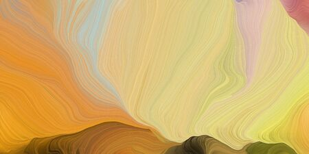 abstract fractal swirl motion waves. can be used as wallpaper, background graphic or texture. graphic illustration with burly wood, bronze and chocolate colors. Standard-Bild - 133418502