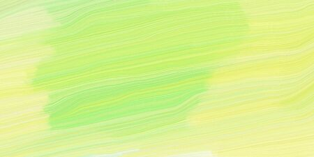 curved lines background illustration with khaki, light golden rod yellow and light green colors.