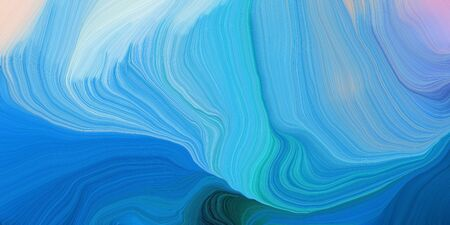 abstract design swirl waves. can be used as wallpaper, background graphic or texture. graphic illustration with steel blue, dodger blue and light blue colors. Фото со стока