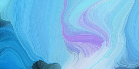 abstract design swirl waves. can be used as wallpaper, background graphic or texture. graphic illustration with sky blue, lavender blue and steel blue colors. Standard-Bild - 133418533
