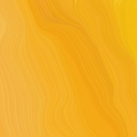 square graphic illustration with vivid orange, pastel orange and dark golden rod colors. abstract fractal swirl motion waves. can be used as wallpaper, background graphic or texture.