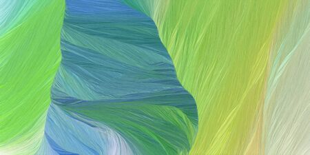 abstract concept of curved motion speed lines with dark sea green, tan and sky blue colors. good as background or backdrop wallpaper.