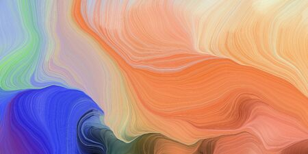 abstract colorful waves motion. can be used as wallpaper, background graphic or texture. graphic illustration with dark salmon, dark slate blue and pastel blue colors. Standard-Bild - 133418543