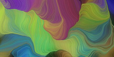 abstract fractal swirl waves. can be used as wallpaper, background graphic or texture. graphic illustration with pastel brown, old mauve and teal blue colors. Standard-Bild - 133418560