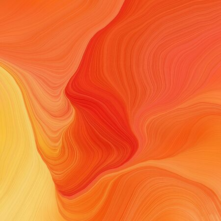 quadratic graphic illustration with tomato, pastel orange and strong red colors. abstract design swirl waves. can be used as wallpaper, background graphic or texture.