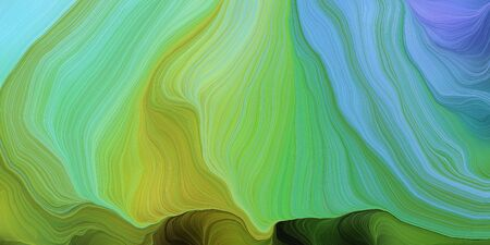 abstract colorful waves motion. can be used as wallpaper, background graphic or texture. graphic illustration with pastel green, sky blue and very dark green colors.