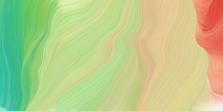 abstract concept of curved motion speed lines with tan, medium sea green and indian red colors. good as background or backdrop wallpaper.