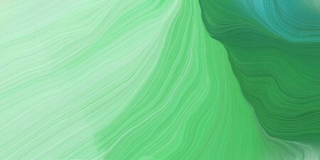 futuristic concept of curved motion speed lines with pastel green, tea green and sea green colors. good as background or backdrop wallpaper.