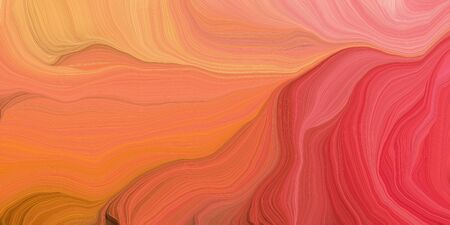 abstract colorful swirl motion. can be used as wallpaper, background graphic or texture. graphic illustration with tomato, coral and crimson colors. Standard-Bild - 133476883