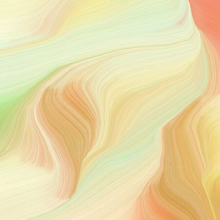 square graphic illustration with wheat, burly wood and sandy brown colors. abstract design swirl waves. can be used as wallpaper, background graphic or texture.