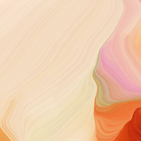 quadratic graphic illustration with wheat, peru and firebrick colors. abstract fractal swirl motion waves. can be used as wallpaper, background graphic or texture.
