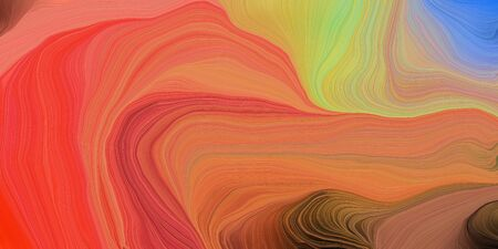 abstract design swirl waves. can be used as wallpaper, background graphic or texture. graphic illustration with indian red, dark slate gray and dark khaki colors. Standard-Bild - 133418573