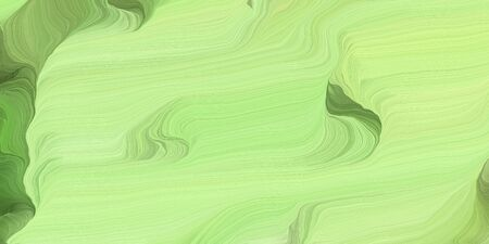 abstract colorful waves motion. can be used as wallpaper, background graphic or texture. graphic illustration with pale green, olive drab and moderate green colors. Standard-Bild - 133418576