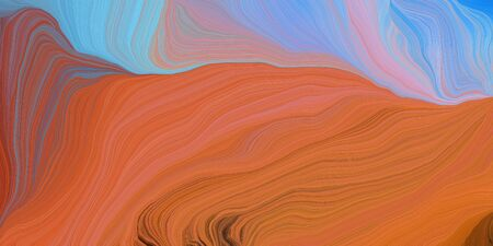 abstract colorful waves motion. can be used as wallpaper, background graphic or texture. graphic illustration with coffee, light pastel purple and rosy brown colors. Standard-Bild - 133418619