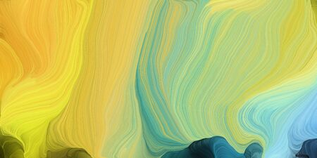 abstract design swirl waves. can be used as wallpaper, background graphic or texture. graphic illustration with dark khaki, teal blue and sky blue colors.