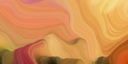 abstract colorful swirl motion. can be used as wallpaper, background graphic or texture. graphic illustration with peru, sandy brown and chocolate colors.