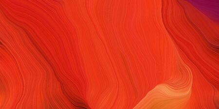 abstract fractal swirl motion waves. can be used as wallpaper, background graphic or texture. graphic illustration with crimson, orange red and firebrick colors. Standard-Bild - 133418618