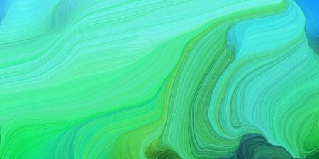 abstract design swirl waves. can be used as wallpaper, background graphic or texture. graphic illustration with medium aqua marine, turquoise and sea green colors. Standard-Bild - 133418625