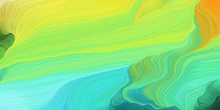 abstract colorful swirl motion. can be used as wallpaper, background graphic or texture. graphic illustration with green yellow, aqua marine and light sea green colors.