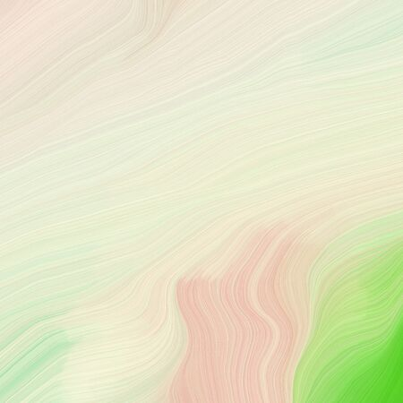 square graphic illustration with antique white, moderate green and light green colors. abstract design swirl waves. can be used as wallpaper, background graphic or texture.