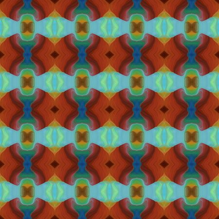 colorful seamless pattern with saddle brown, medium aqua marine and medium sea green colors. Banque d'images - 133825841