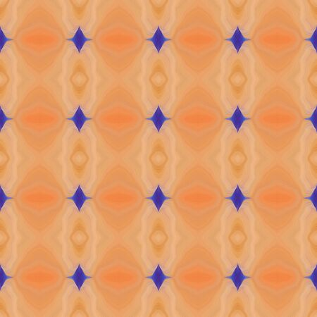 colorful seamless repeatable pattern with sandy brown, dark slate blue and tan colors. Banque d'images - 133825850