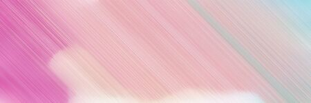 colorful horizontal banner - diagonal lines - design with baby pink, pale violet red and linen colors and space for text and image.
