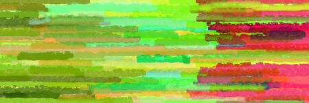 horizontal stripes banner with yellow green, moderate red and light green colors