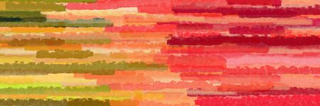 various horizontal stripes graphic illustration with peru, coral and burly wood colors Banque d'images - 133825333