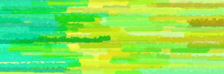 various horizontal lines graphic illustration with green yellow, spring green and pale green colors Banque d'images - 133825435