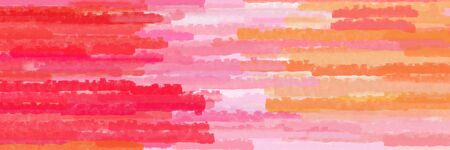 various horizontal stripes graphic illustration with light coral, pastel magenta and crimson colors Banque d'images - 133825438
