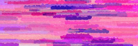 horizontal stripes banner with orchid, hot pink and dark slate blue colors Banque d'images - 133825453