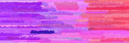 orchid, pastel red and blue violet colors grunge banner background with horizontal strokes Banque d'images - 133825455