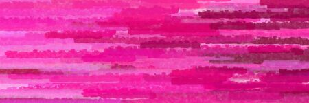 various horizontal lines graphic illustration with deep pink, medium violet red and dark moderate pink colors Banque d'images - 133825603