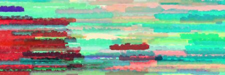 horizontal lines banner with dark sea green, medium aqua marine and dark moderate pink colors Banque d'images - 133825695