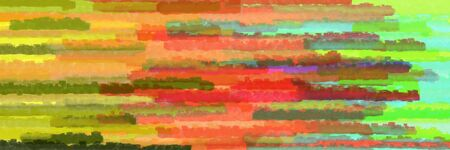 horizontal mosaic lines banner with peru, aqua marine and olive drab colors Banque d'images - 133825694