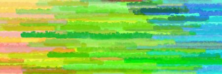 horizontal mosaic lines texture graphic with moderate green, sandy brown and yellow green colors Stok Fotoğraf