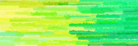horizontal stripes banner with green yellow, spring green and pastel green colors
