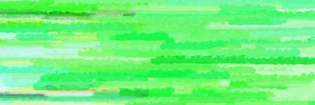 pastel green, tea green and vivid lime green colors grunge banner background with horizontal strokes