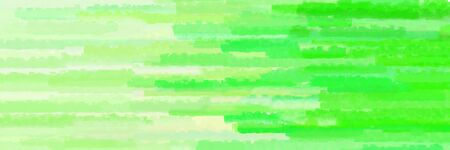 pale green, neon green and vivid lime green colors grunge banner background with horizontal strokes